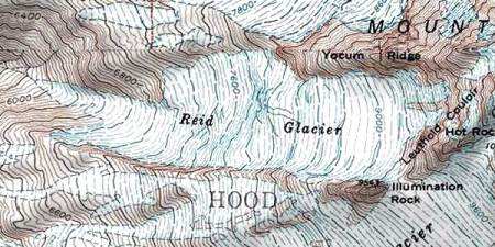USGS view of the Reid Glacier