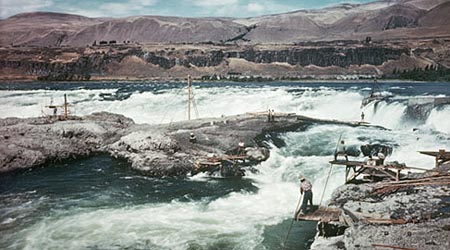 These scene was photographed in the mid-1950s, just before the falls was inundated