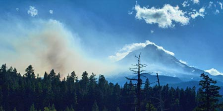 The 2008 Gnarl Fire, viewed in August from Dufur Mill Road