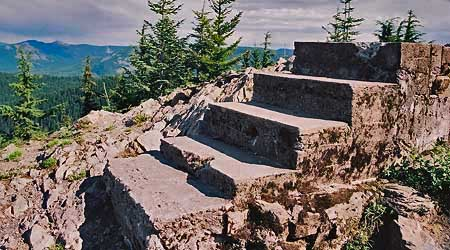 Stairway to the past, these steps once led to the lookout atop Tumala Mountain