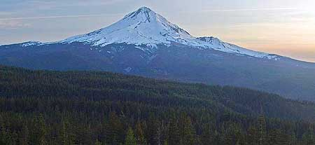 Mount Hood at dusk from Tamarack Rock