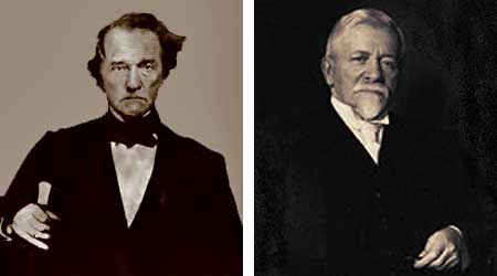 Thomas Jefferson Dryer (left) and Henry Lewis PIttock