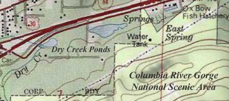 Dry Creek ponds are located outside the protection of both the National Scenic Area boundary and the nearby Oxbow fish hatchery.