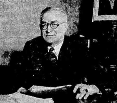 Guy W. Talbot as he appeared in 1933 on the front page of the Oregonian, announcing his retirement