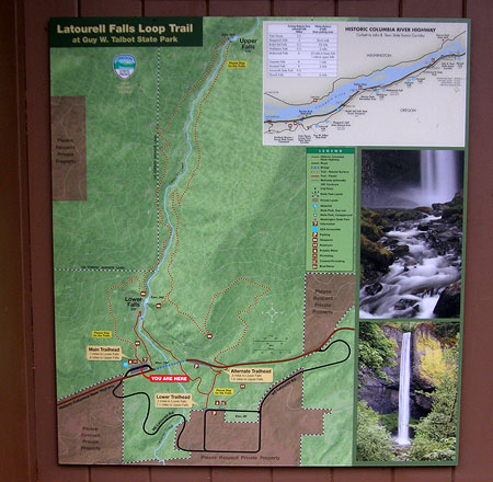 The excellent, new Latourell Falls Loop map