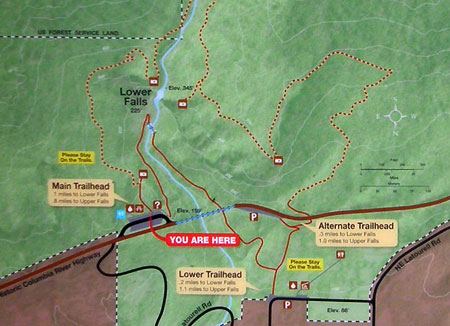 A closer look at the excellent detail on the new park map