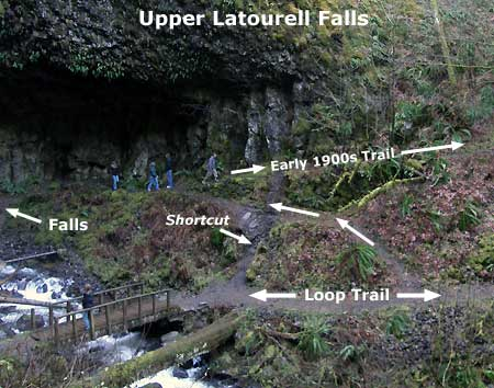 A century-old trail climbs the west slope at Upper Latourell Falls