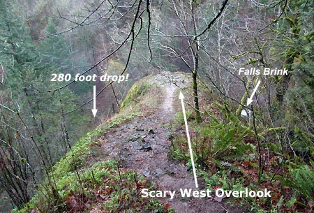 The west overlook from the trail… yikes!