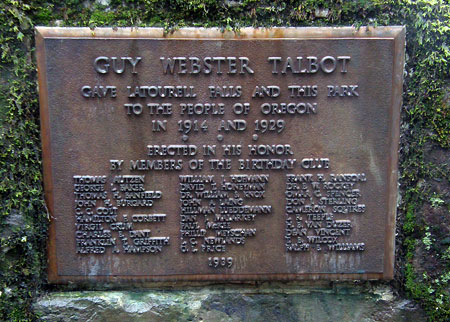 This plaque is the sole evidence of Guy Talbot's grand gesture to the public
