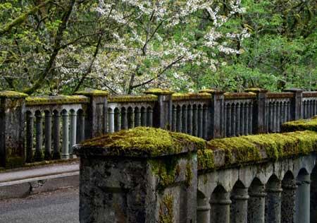 The venerable Latourell Creek Bridge is among the most impressive on the old highway