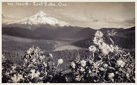 1920s postcard view of Lost Lake from nearby Raker Point