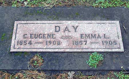 Alva Day's parents Charles Eugene and Emma Day are also buried at Idlewild Cemetery (source: findagrave.com)