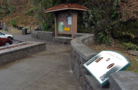 Oregon State Parks interpretive panels are showing out throughout the Gorge