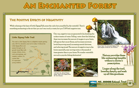 This sign will be located at the Little Zigzag trailhead (USFS)