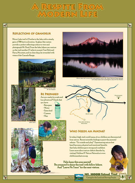 This sign will be at the Mirror Lake trailhead (USFS)