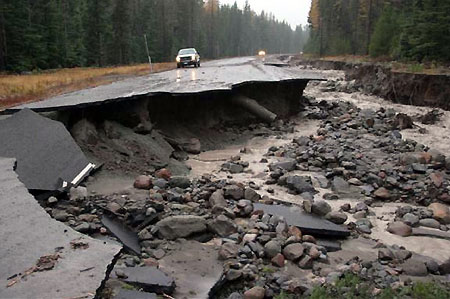 Missed opportunity: photo of the 2006 Newton Creek Floods (USFS)