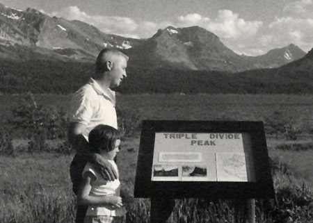 1960s visitors in Glacier National Park (NPS)