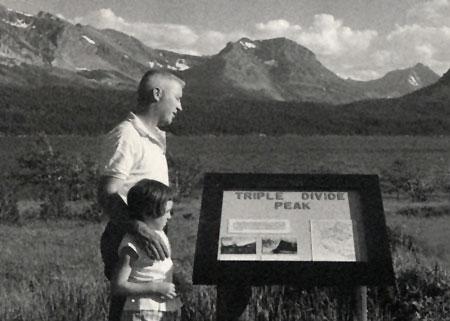1960s visitors in Glacier National Park (NPS)