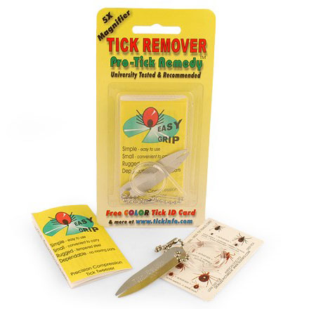 The excellent Pro-Tick Remedy system makes pulling ticks a breeze!