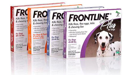 Frontline Plus comes in doses adjusted for the weight of your dog, and is applied from a hard-to-open, somewhat awkward-to-use dropper that can spill onto your hands