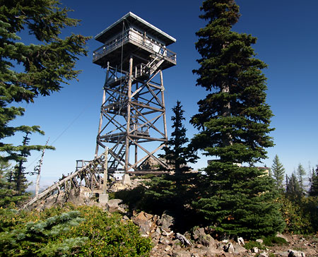 The remote Flag Point Lookout is still staffed in summer