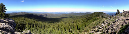 The view east from the summit of Lookout Mountain