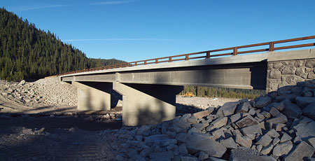 By late 2012, the Federal Highway Administration had built a new, much larger bridge over the White River designed to survive future debris flows