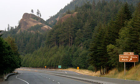 Viento Bluff is a familiar landmark to those traveling I-84