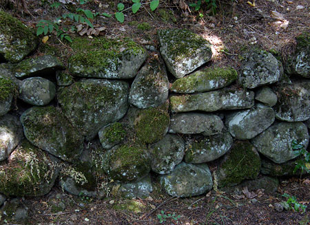 Historic retaining wall at Viento from the CCC era