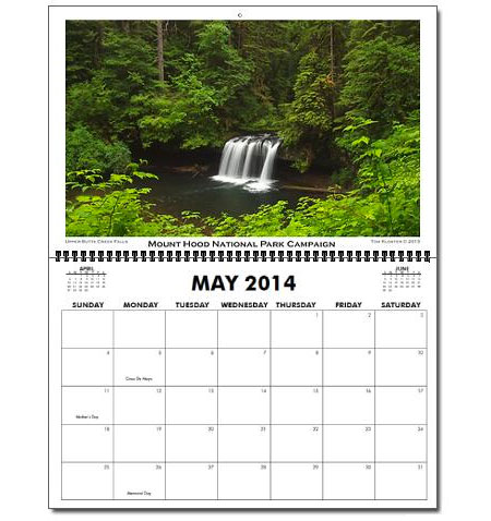 "What the calendar looks like - oversized 11x17"" pages you can actually use!"
