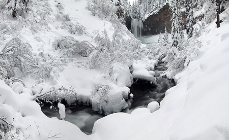 January: Tamanawas Falls dressed in white
