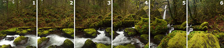 Six photos make up the original panorama at Elowah