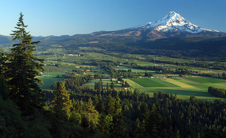 October: The upper Hood River Valley from a lesser-known viewpoint on Middle Mountain