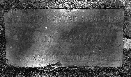 Cemetery marker for Henry, Neville and Joy Angwin (BillionGraves.com)
