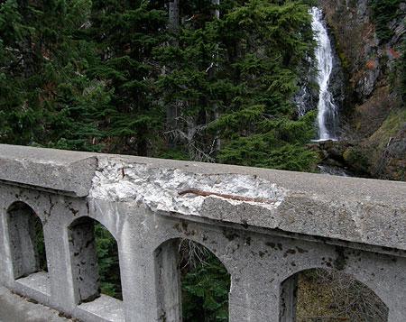 Railing Damage on the East Fork Bridge in 2009