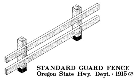 ODOT has been restoring wood guardrails along the old highway throughout the Gorge since the 1990s