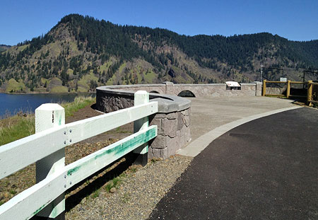 A short, new segment of the Historic Columbia River Highway State Trail leads to the refurbished Mitchell Point overlook