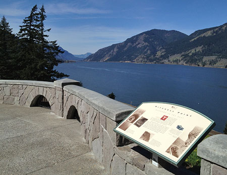 "The restored overlook features a sweeping view of the Columbia Gorge and interpretive display on the iconic former Mitchell Point ""Tunnel of Many Vistas"""