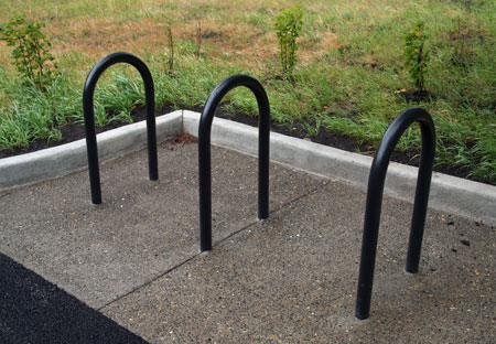 New bicycle racks and native plants are part of the Mitchell Point facelift