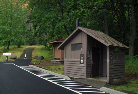 A year-round, accessible restroom completes the upgrade at the Mitchell Point wayside