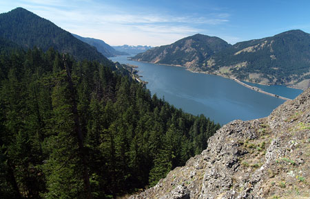 Sweeping river vistas from the summit leg of the Mitchell Point trail