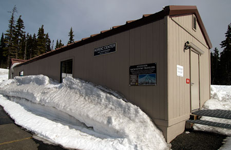 The humble Meadows Nordic Center is overshadowed by the very popular Teacup Lake Nordic Club facilities located across the highway