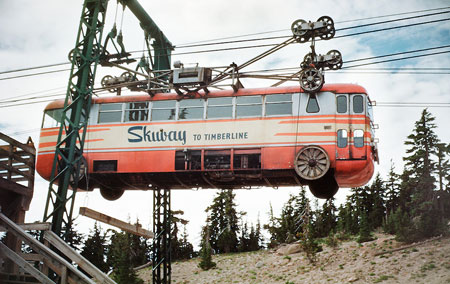 The Mount Hood Skiway was an early 1950s experiment to lessen parking pressure on Timberline Lodge - it failed, but may have been ahead of its time!