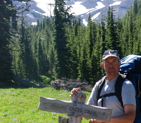 Paul exploring the PCT in the Three Sisters Wilderness