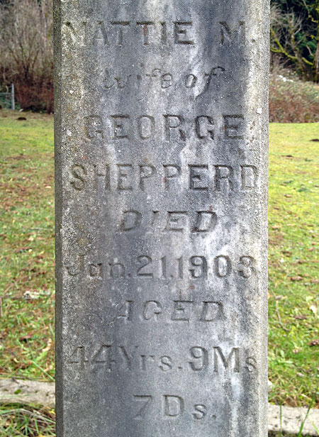 "Mattie Shepperd, ""wife of George Shepperd"""
