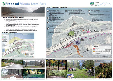 Sample major project page from the draft Gorge Parks Plan