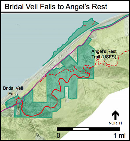 Proposed Bridal Veil to Angels Rest Trail