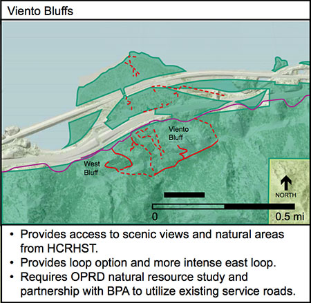 Proposed Viento Bluffs Trail