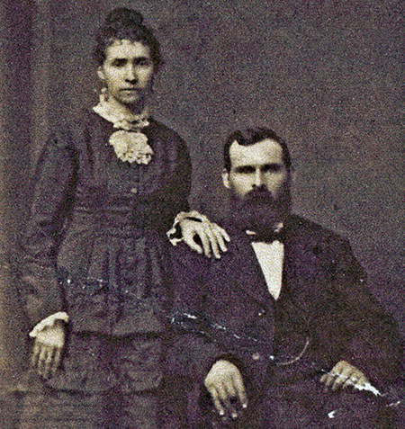 George and Matilda Shepperd (his first wife) in roughly the 1870s (Photo courtesy Rosemary Guttridge)