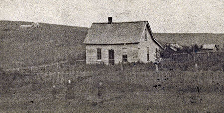 George and Matilda Shepperd's farm on the Iowa prairie in the 1880s (Photo courtesy Rosemary Guttridge)